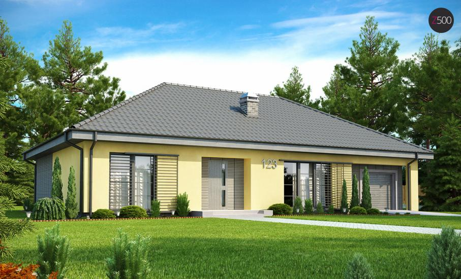 Проект дома Z123 иллюстрация 1