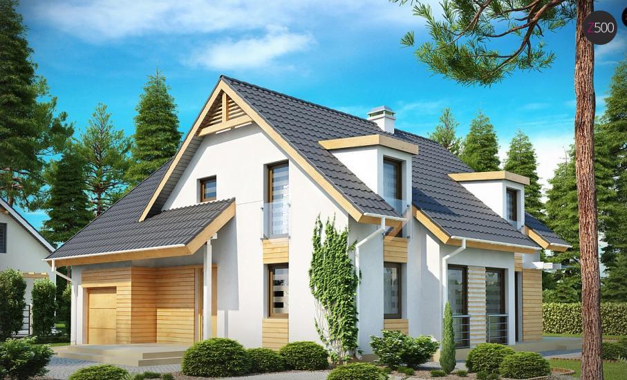 Проект дома Z135 иллюстрация 1