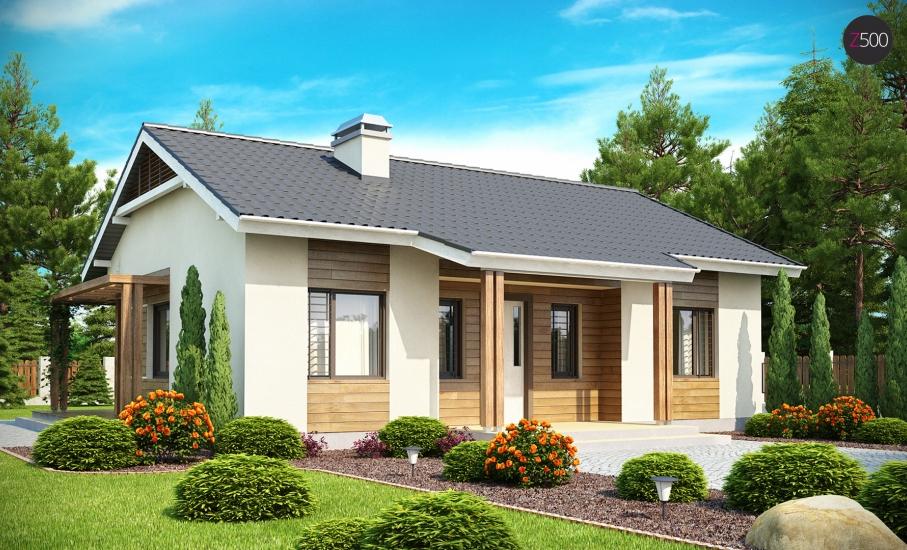 Проект дома Z136 иллюстрация 1