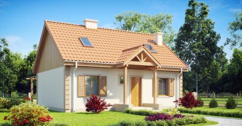 Проект дома Z14 иллюстрация 1