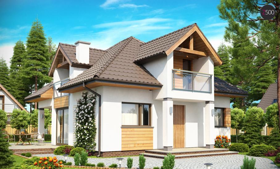 Проект дома Z145 иллюстрация 1