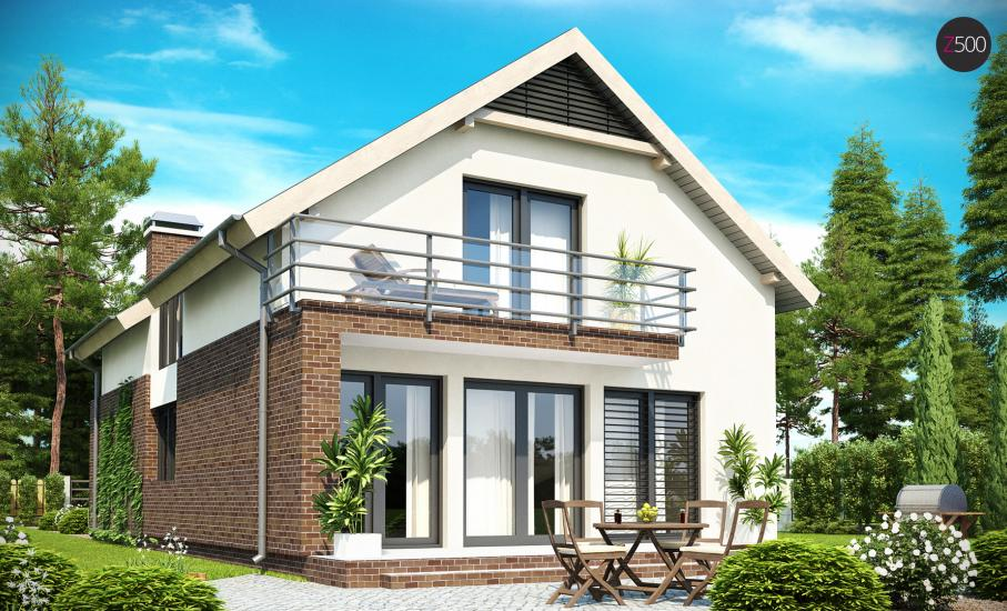 Проект дома Z154 иллюстрация 2