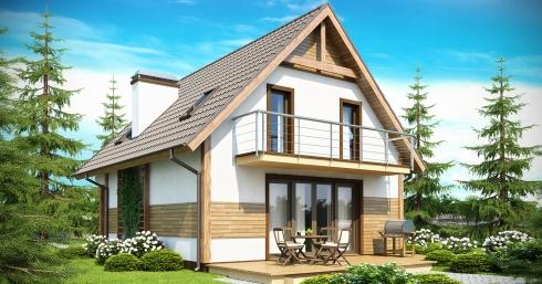 Проект дома Z45 иллюстрация 1