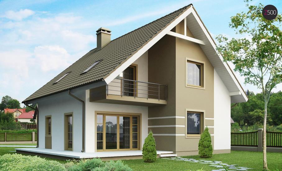 Проект дома Z62 иллюстрация 1