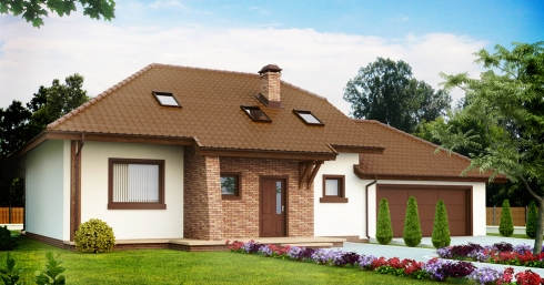Проект дома Z67 иллюстрация 1