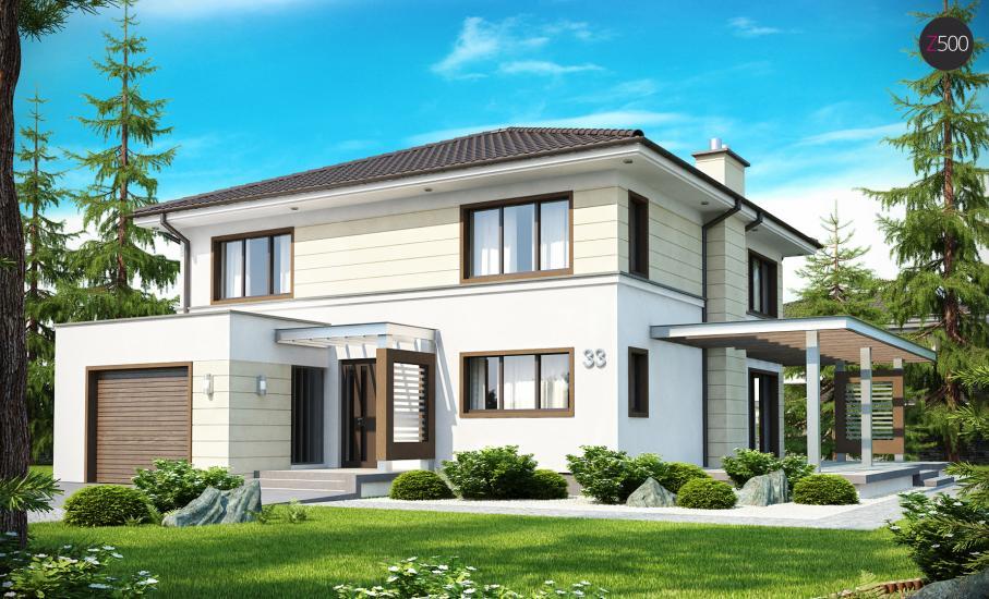 Проект дома Zx33 иллюстрация 1