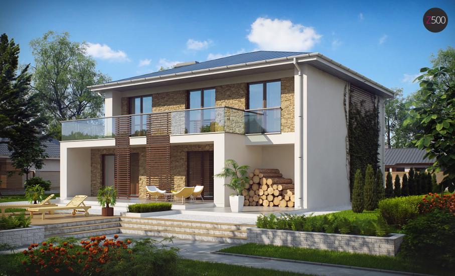 Проект дома Zx55 иллюстрация 1