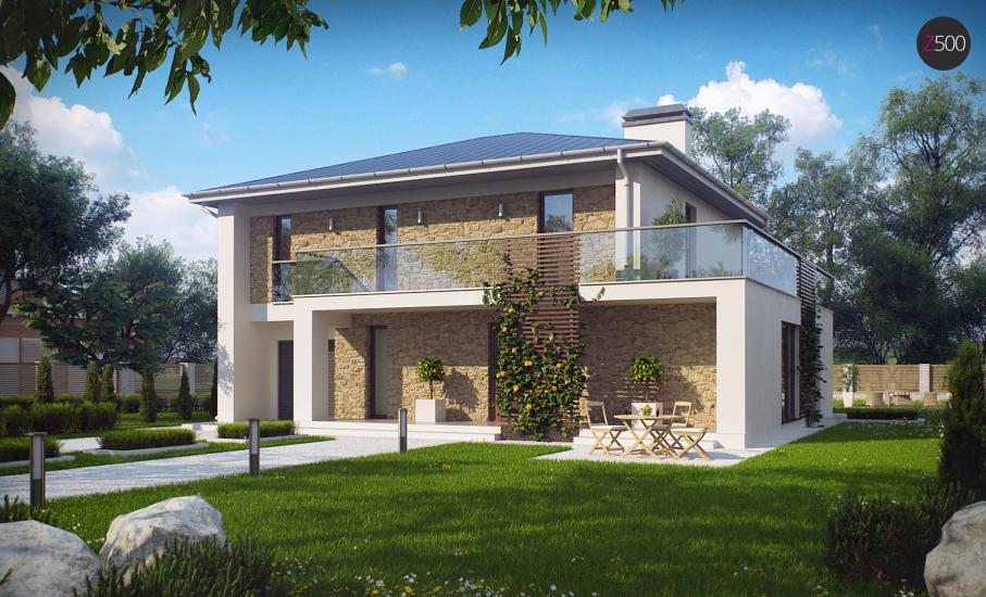 Проект дома Zx55 иллюстрация 2