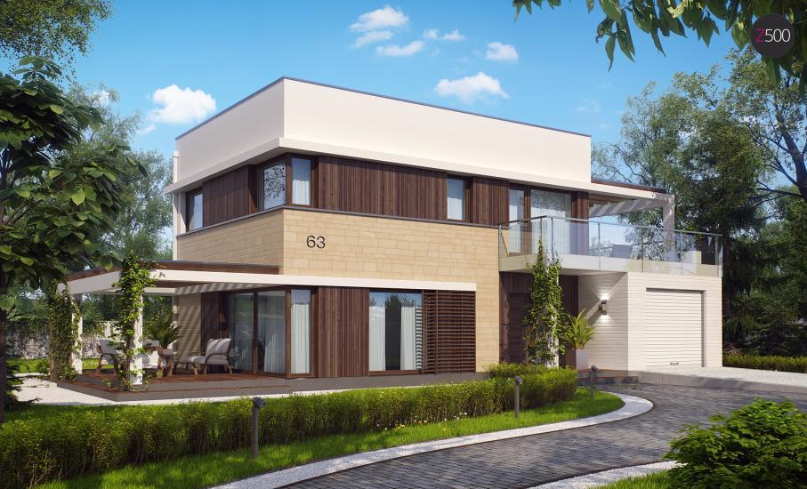 Проект дома Zx63 иллюстрация 2