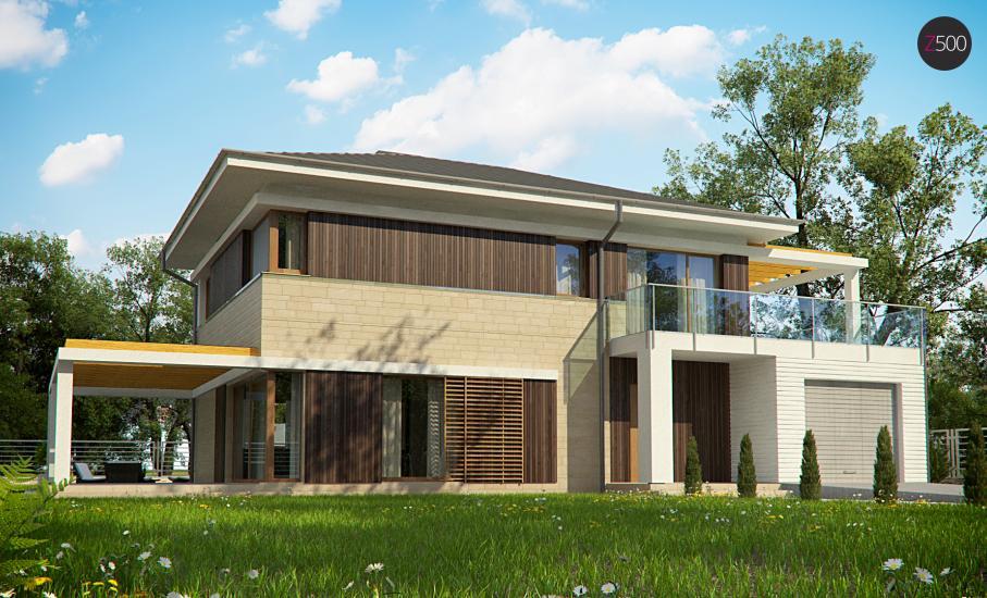 Проект дома Zx63 иллюстрация 1